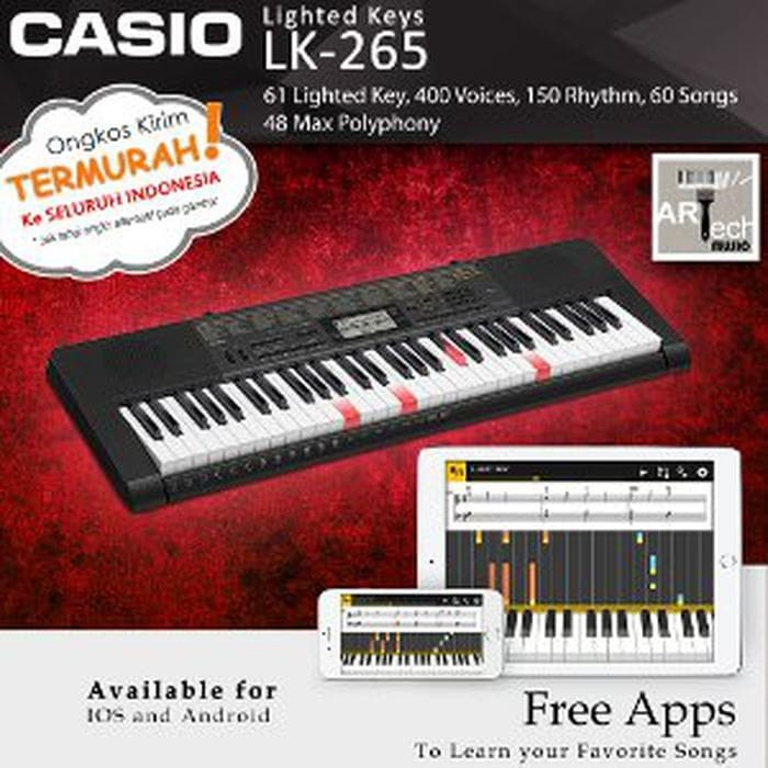 Keyboard Casio LK-265 - LK265 Lighted Key Garansi Resmi Big dealss
