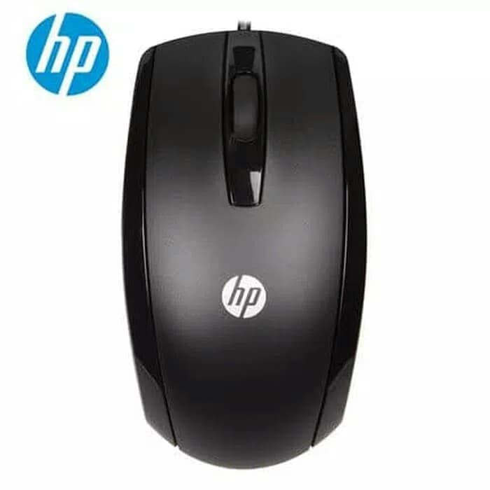 Foto Produk Mouse USB HP X500 / Wired mouse HP X500 - Hitam dari @accsesosiesstore