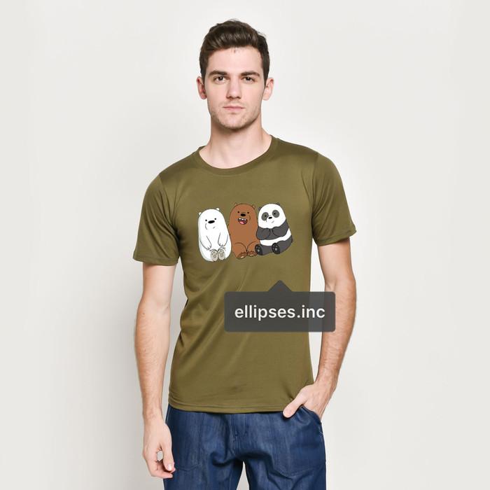 Foto Produk Tumblr Tee / T-Shirt / Kaos Pria Lengan Pendek We Bare Bears Army dari Ellipses.inc
