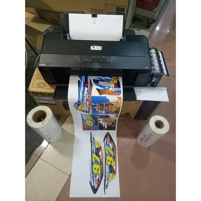 picture about Printable Vinyl Laser Printer identify Jual Mesin Printer L1800 Artwork Ink Sticker Vinyl Indoor - DKI Jakarta - toko mesin chopping stike Tokopedia