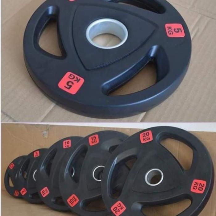 harga Plat dumbel rubber 25kg diameter 5cm dumble dumbell barbel barbell Tokopedia.com