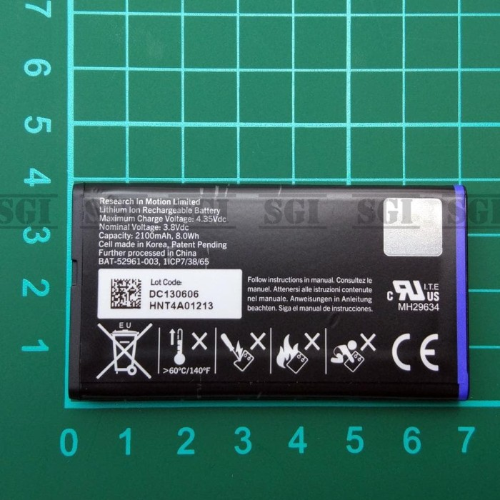 Baterai Blackberry NX1 Q10 Original OEM TAM Batre Batrai Battery BB