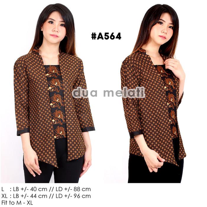 harga Kemeja blouse atasan batik blus a403a404a405 lengan pendek Tokopedia.com