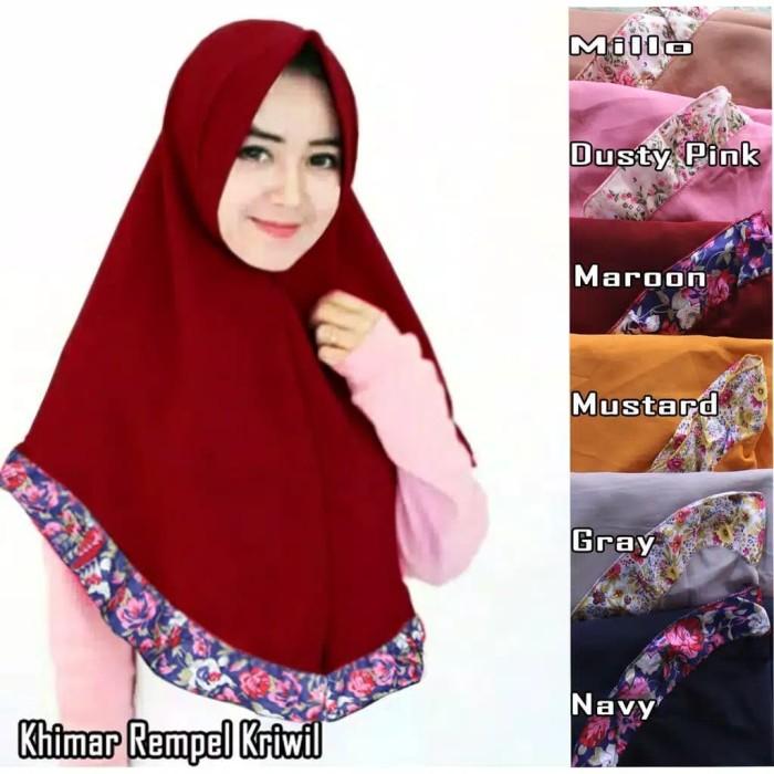 Jual Jilbab Hijab Instan Khimar Pet Katun Floral Rempel Bunga Murah Kab Kudus Ahyanna Store Tokopedia