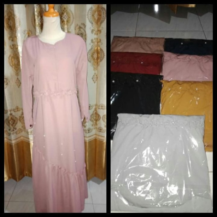 Foto Produk Dress muslimah mutiara glamour dari Galery Molitha
