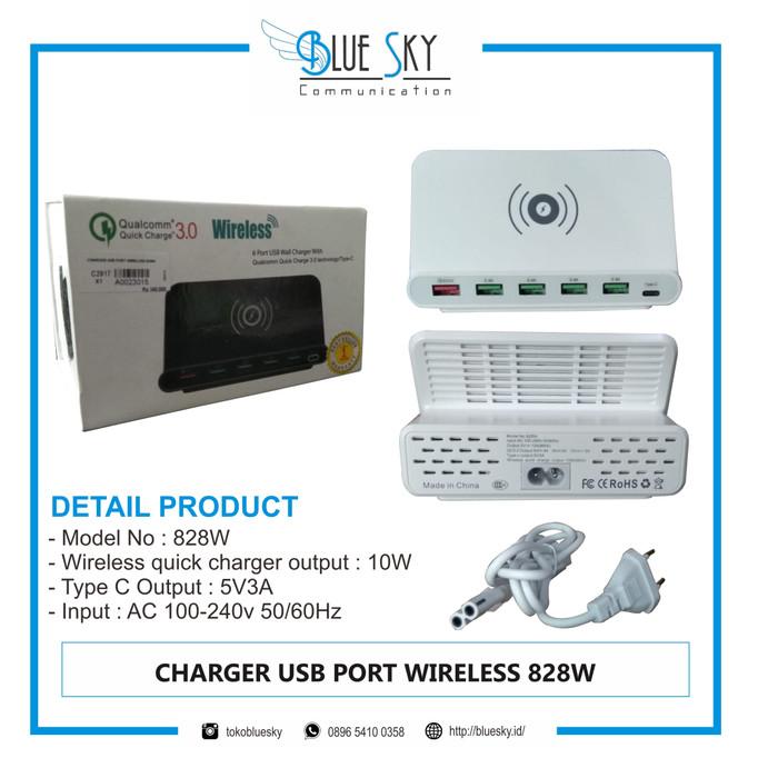 Foto Produk CHARGER USB PORT WIRELESS 828W dari Blue Sky Communication