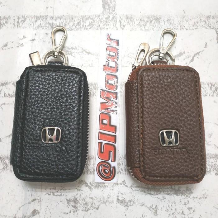 Foto Produk Dompet Kunci Keyless Honda Gantungan STNK Mobil - Cokelat dari SIPMotor