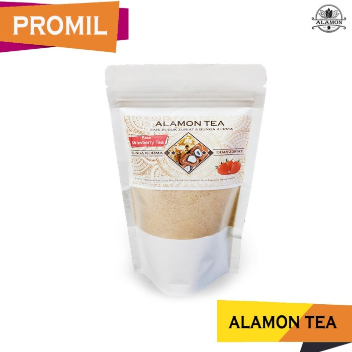 Foto Produk PROMIL / Bubuk Zuriat + Bunga Kurma / 3 varian Rasa / Alamon Tea dari Alamon