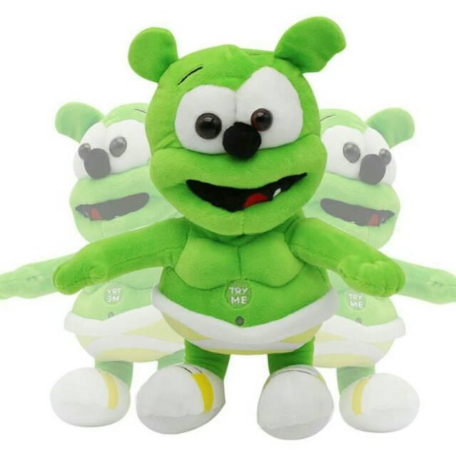 Foto Produk Boneka gummy bear bernyanyi Import / boneka beruang hijau nyanyi dari cutePeppa