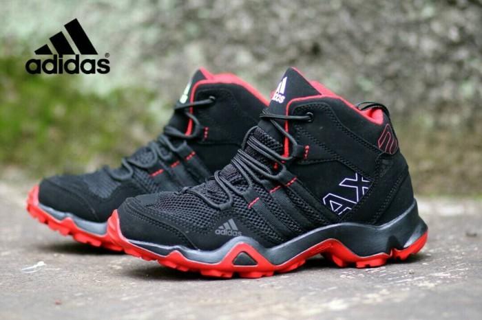 Jual Sepatu Adidas Ax2 High Black Red Sneakers Pria Casual Sport