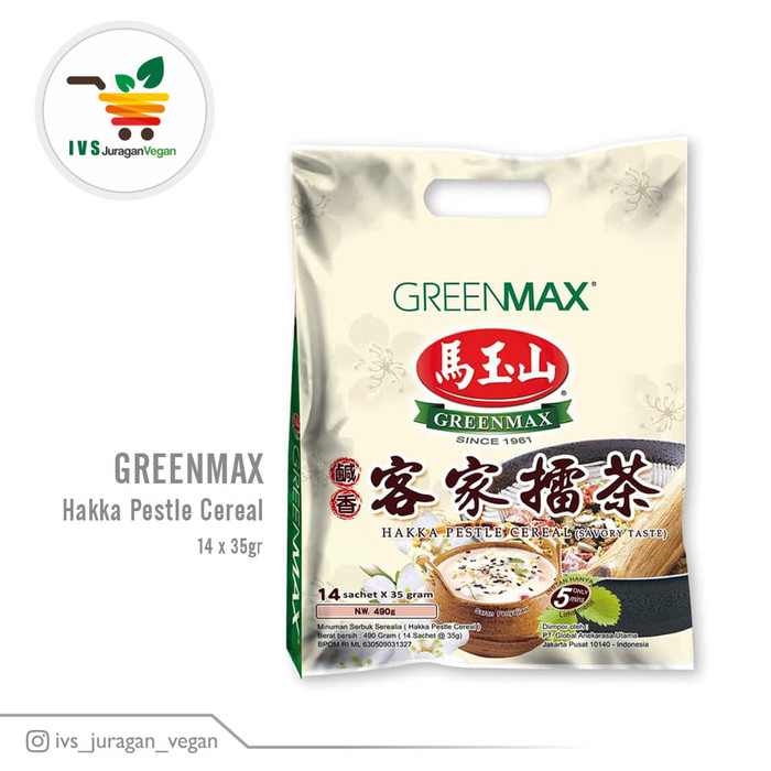 harga Hakka pestle cereal greenmax (14 x 35 gr) vega Tokopedia.com