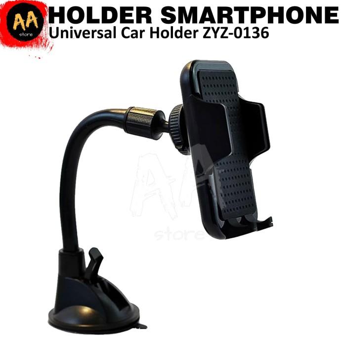 Foto Produk Stand Universal Smartphone Phone Holder Kaca Dashboard Mobil ZYZ-0136 dari AkuAda Store
