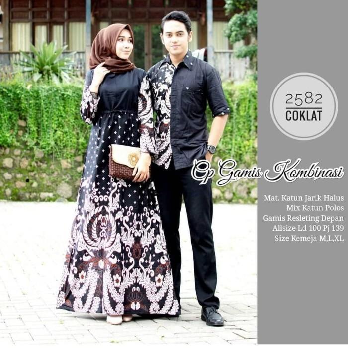 Jual Baju Sarimbit Batik Gamis Couple Kombinasi Kota Pekalongan Tabasama Tokopedia