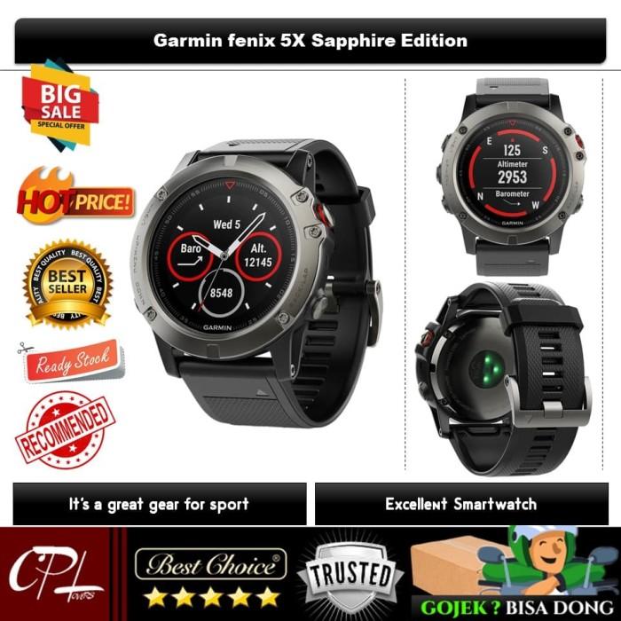 harga Garmin fenix 5x sapphire multisport gps heart rate monitor watch Tokopedia.com