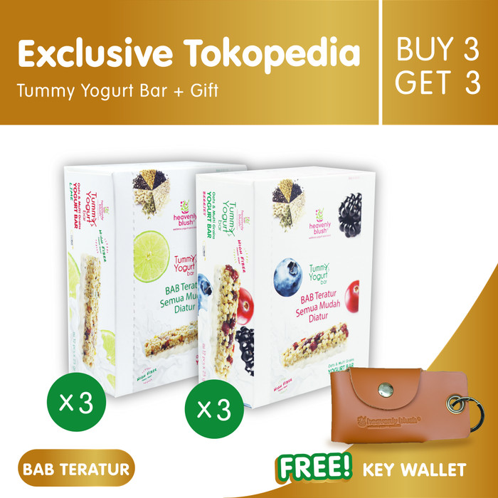 [buy 3 get 3] heavenly blush tummy yogurt bar [12px25gr] + key wallet