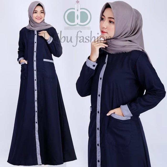 Jual Gamis Katun Toyobo Kancing Depan Jakarta Pusat D Ibu Fashion Tokopedia