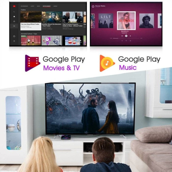 Jual BARU H96 MAX Smart Android TV BOX 4GB RAM 64GB ROM NEW OS 9 Pie USB 3  - Kota Bogor - photosoup | Tokopedia