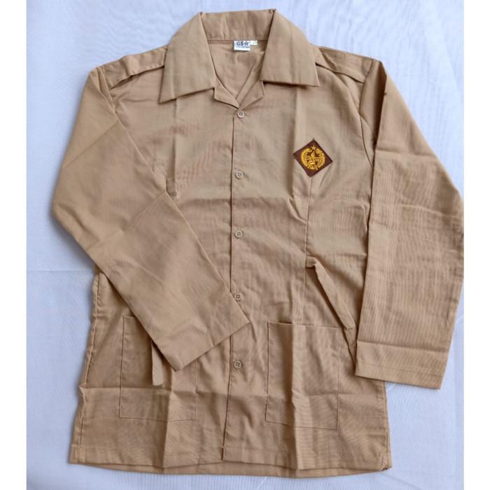 Foto Produk Baju Pramuka SMP Perempuan Lengan Panjang Kelas 7 - 9 - 12-13 tahun dari Syaraaswordrobe