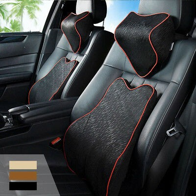 Foto Produk Memory Foam Car Seat Cushion Lumbar Back Support   Head Rest Neck Pill dari Balmond_Store