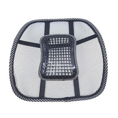 Pair Car Office Seat Chair Massage Back Lumbar Support Mesh Vent Cushion Pad