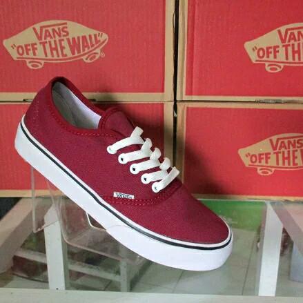 Jual Sepatu Vans Authentic California Merah Maroon Kota