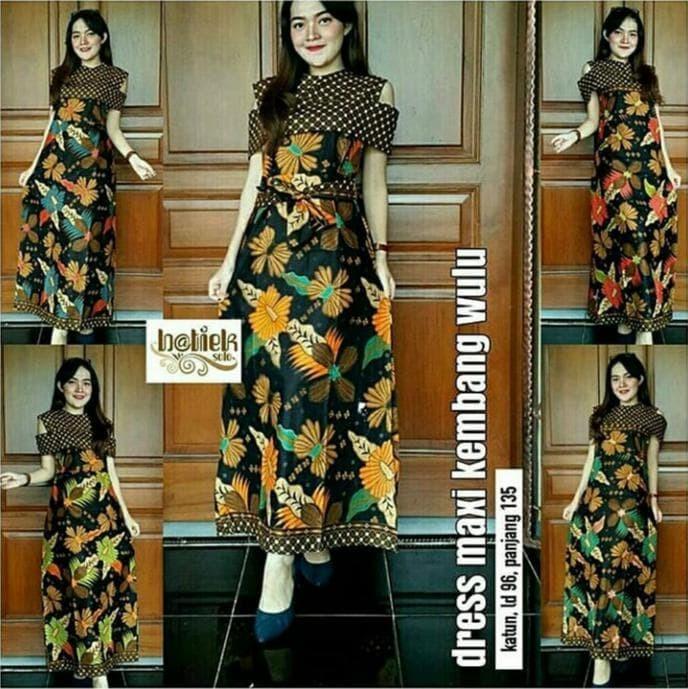 Jual Paling Baru Dan Termurah Dress Batik Modern Maxi Kembang Wulu Mataram Jakarta Selatan Fitaqialmada Tokopedia