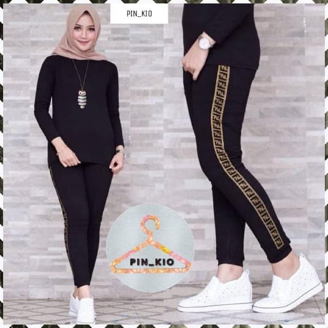 Jual Paling Baru Dan Termurah Legging Fendi Import List Metalik Celana Jakarta Selatan Mardianaalpa Tokopedia