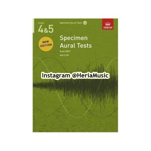 Foto Produk ABRSM Specimen Aural Tests Grade 4 & 5 with CD dari HERIA MUSIC