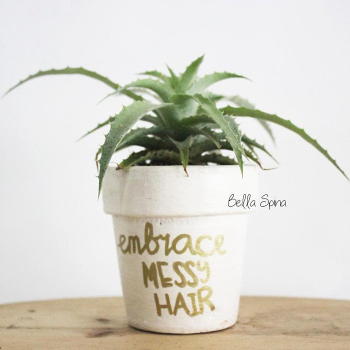 jual jual best seller pot clay white quotes medium size ptm