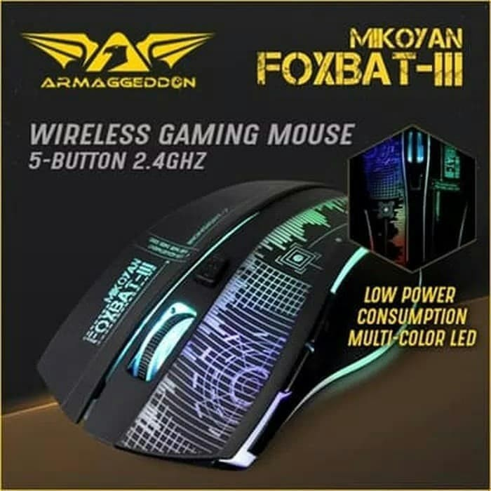 Foto Produk Armaggeddon Foxbat III -Wireless Macro-Gaming Mouse-Best Seller dari SuperStore Computindo