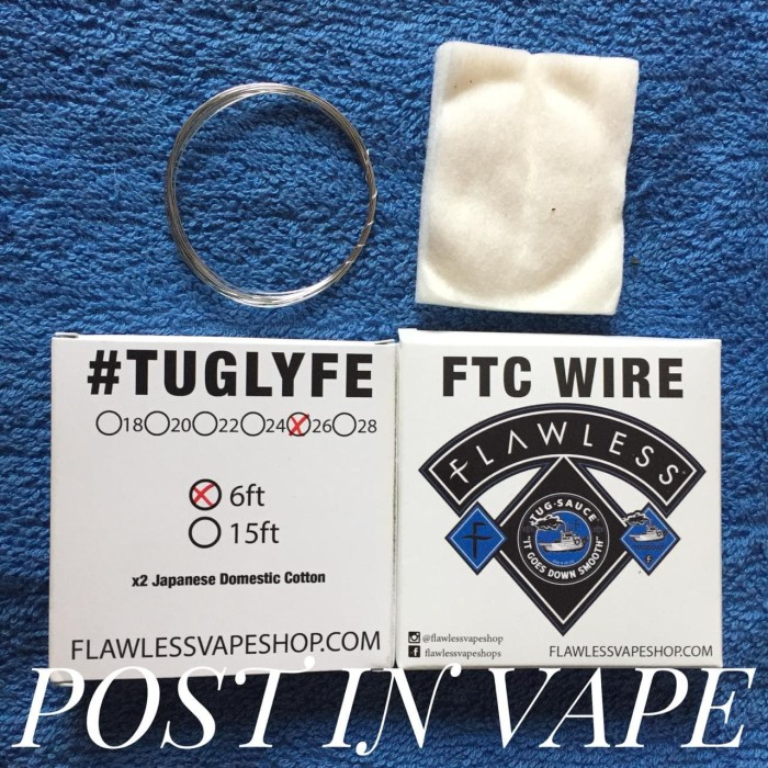 Jual FTC WIRE FLAWLESS AWG 26 - AUTHENTIC WIRE 6 FEET FOR VAPING - DKI  Jakarta - Post In Vape | Tokopedia