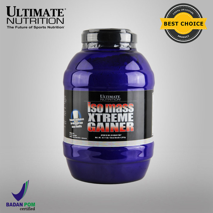 Foto Produk Iso Mass Xtreme Gainer (Rasa Vanilla), 10.11 lbs - Ultimate Nutrition dari Ultimate Nutrition