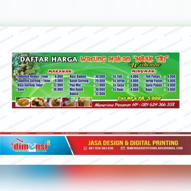 Jual Banner Spanduk Warung Makan 3 X 1 Termurah Gratis Desain