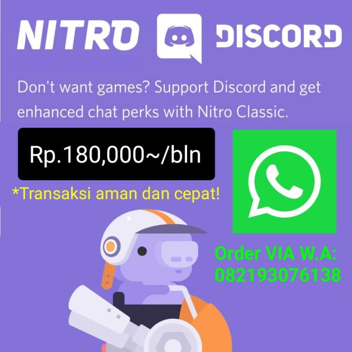Jual Discord Nitro Plus Code (1 Month) [DIGITAL] Promo - Jakarta Barat -  DarkTech Store | Tokopedia