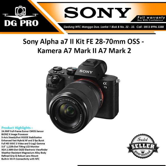 Sony alpha a7 ii kit fe 28-70mm oss - kamera mirrorless sony a7 mark 2