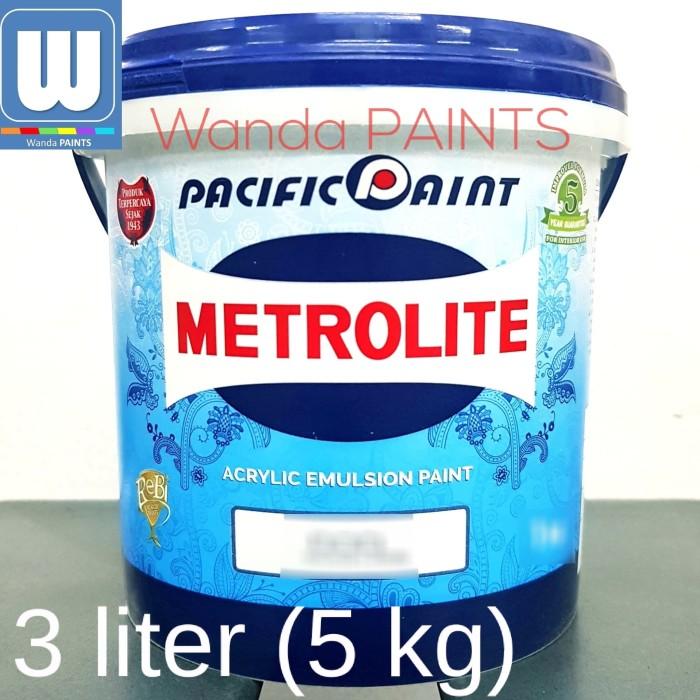 harga Cat tembok metrolite 3 liter putih Tokopedia.com