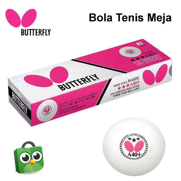 Foto Produk Bola Tenis Meja Butterfly 3 Bintang A40+ Isi 12 dari Alat Olahraga ID