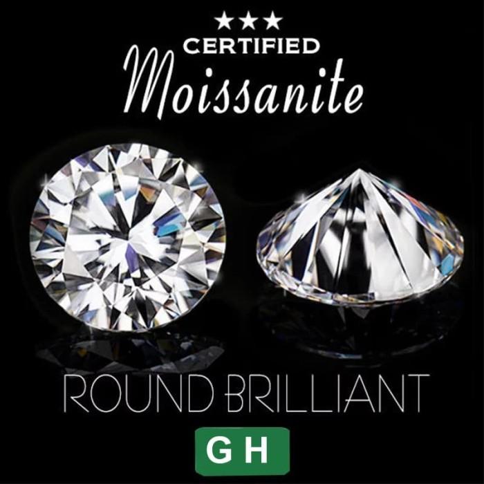 harga Moissanite gh 6.5mm round brilliant cut Tokopedia.com