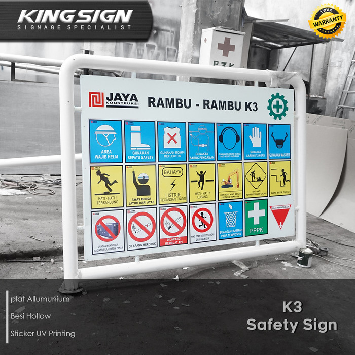 Jual K3 Safety Sign Plang Billboard Proyek Kota Tangerang Selatan Kingsign Id Tokopedia