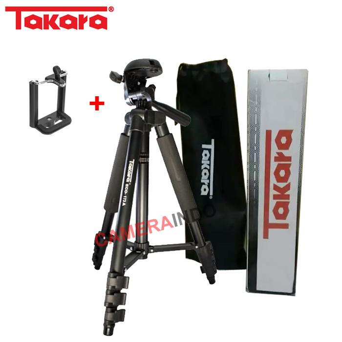Foto Produk Tripod TAKARA ECO 173a plus holder for Camdig, actioncam dan Hp dari cameraindo