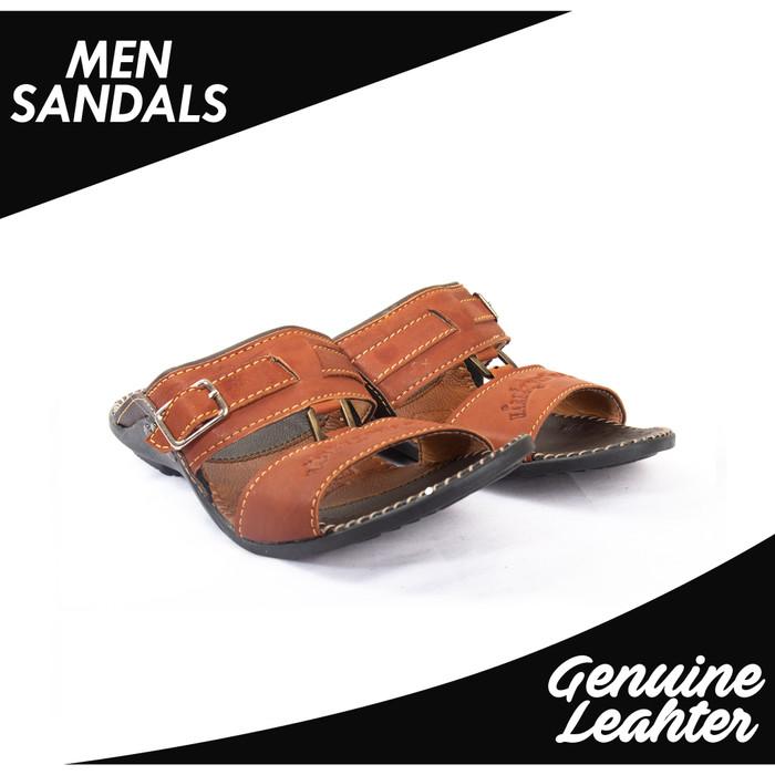 harga Sandal slop casual pria kulit asli ftp s-113 harley davidson Tokopedia.com