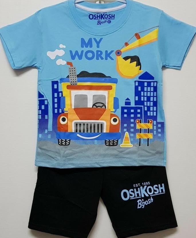 Foto Produk harga promo setelan anak size 1-6 oshkosh my work biru | kaos karakter dari Maarif shop