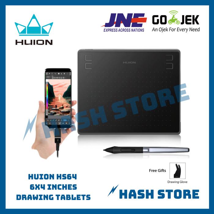 Info Harga HUION HS64 Graphics Drawing Digital Tablet (alt