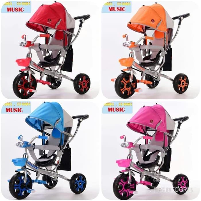 harga Sepeda anak roda 3 tricycle kanopi baby stroller exotic new Tokopedia.com