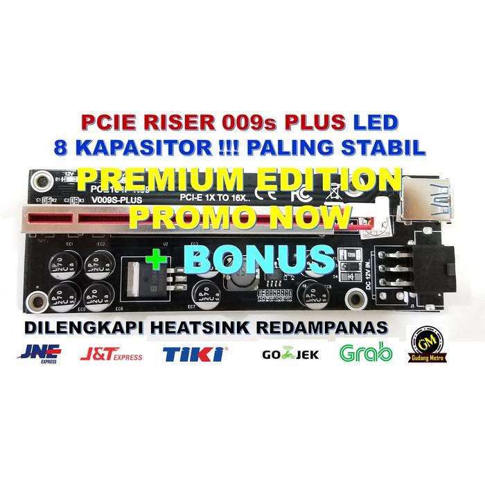 Foto Produk PCIE RISER 8 KAPASITOR PALING LAKU - 009S PLUS - PREMIUM EDITION dari Gudang Metro JKT