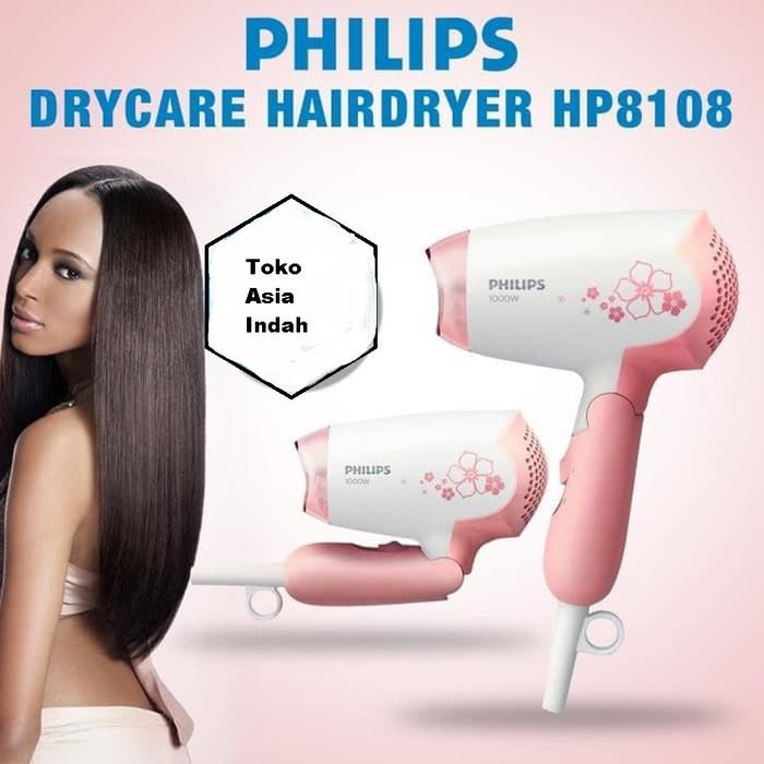 Foto Produk HairDryer Pengering Rambut 400w Philips HP8108 HP 8108 Pink dari Asia Indah