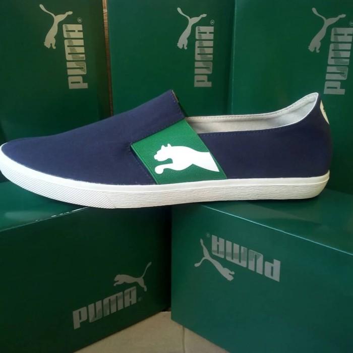 Foto Produk sepatu slip on pumA pria Terbaru - Biru dari yans storee