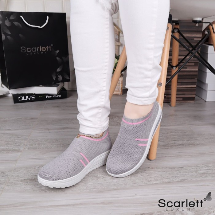 Jual SEPATU MURAH Scarlett Amsterdam luxury Stripe Sneakers 51522Y - Kota  Batam - Lavyne Collection | Tokopedia