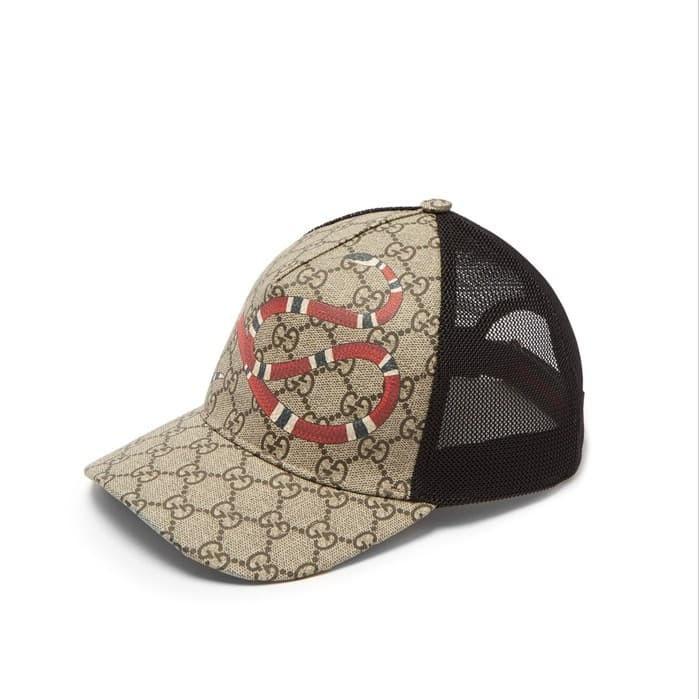 ecb411f901dded Jual Gucci GG Supreme Cap - Kingsnake-print Mesh - Kota Medan ...
