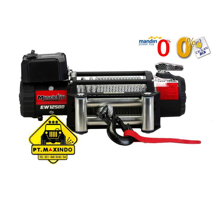 harga T-max musclelift winch ew-12500 (56 ton) high speed gear ratio 193:1 Tokopedia.com